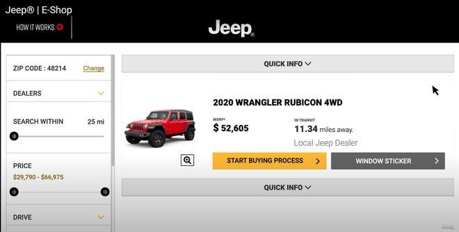 Gambar menunjukan Penjualan mobil online