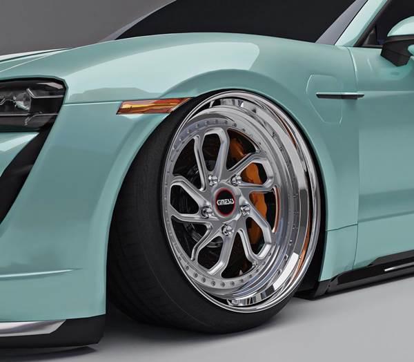 Porsche Taycan Stance custom wheels