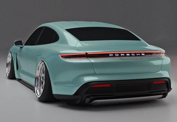 Porsche Taycan Stance rear