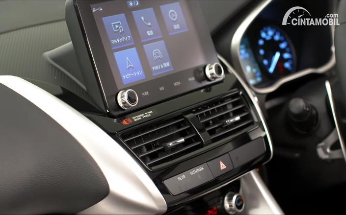Fitur Mitsubishi Eclipse Cross 2021 dari layar head unit
