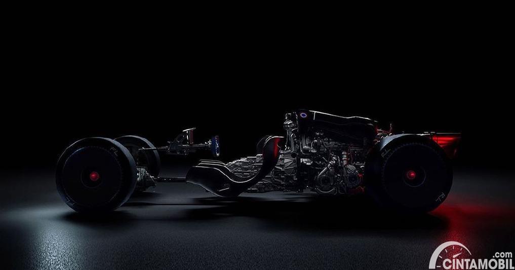 Sasis Bugatti Bolide dari material karbon