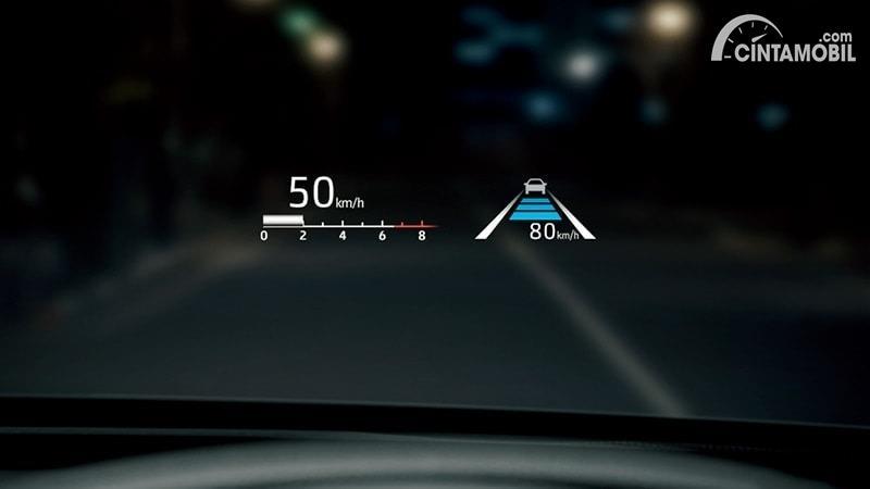 Gambar Head Up Display Toyota Crown 2021