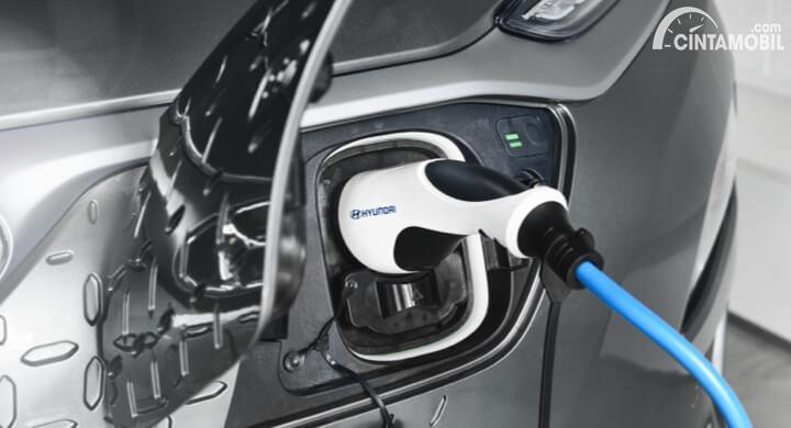 Gambar soket charging Hyundai Kona Electric