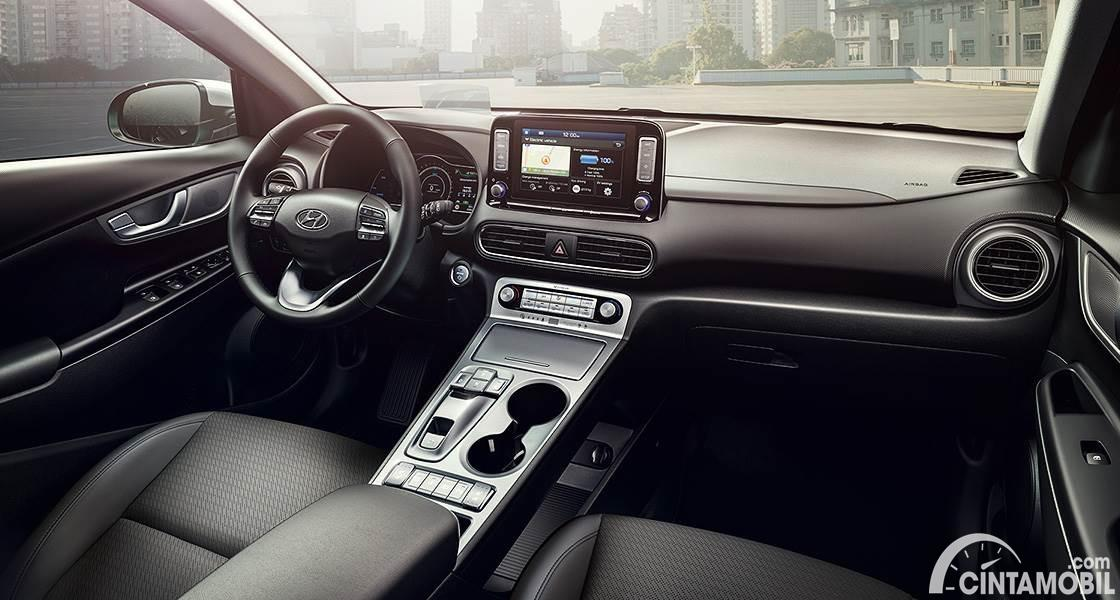 Gambar interior Hyundai KONA Electric 2020