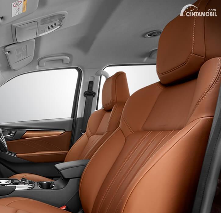 Gambar kursi penumpang depan dan pengemudi Isuzu All-new MU-X 2020