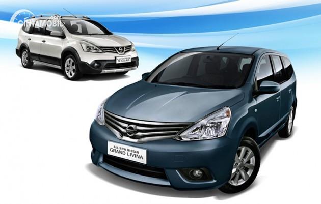 Gambar menunjukkan tampilan mobil Nissan Grand Livina