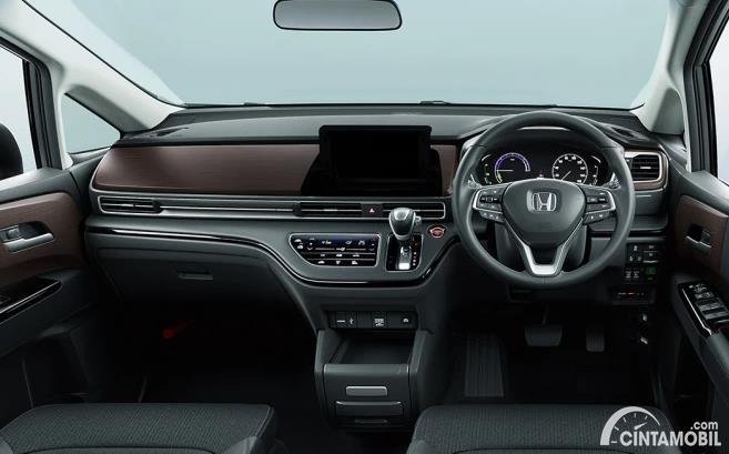 dashboard Honda Odyssey 2021 berwarna hitam