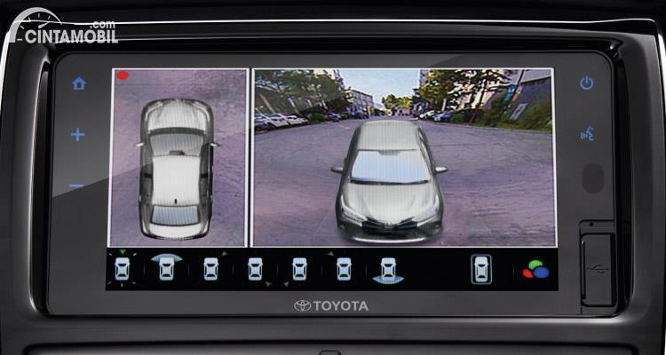 Fitur Panoramic View Monitor 3D di Toyota Vios GR-S 2021