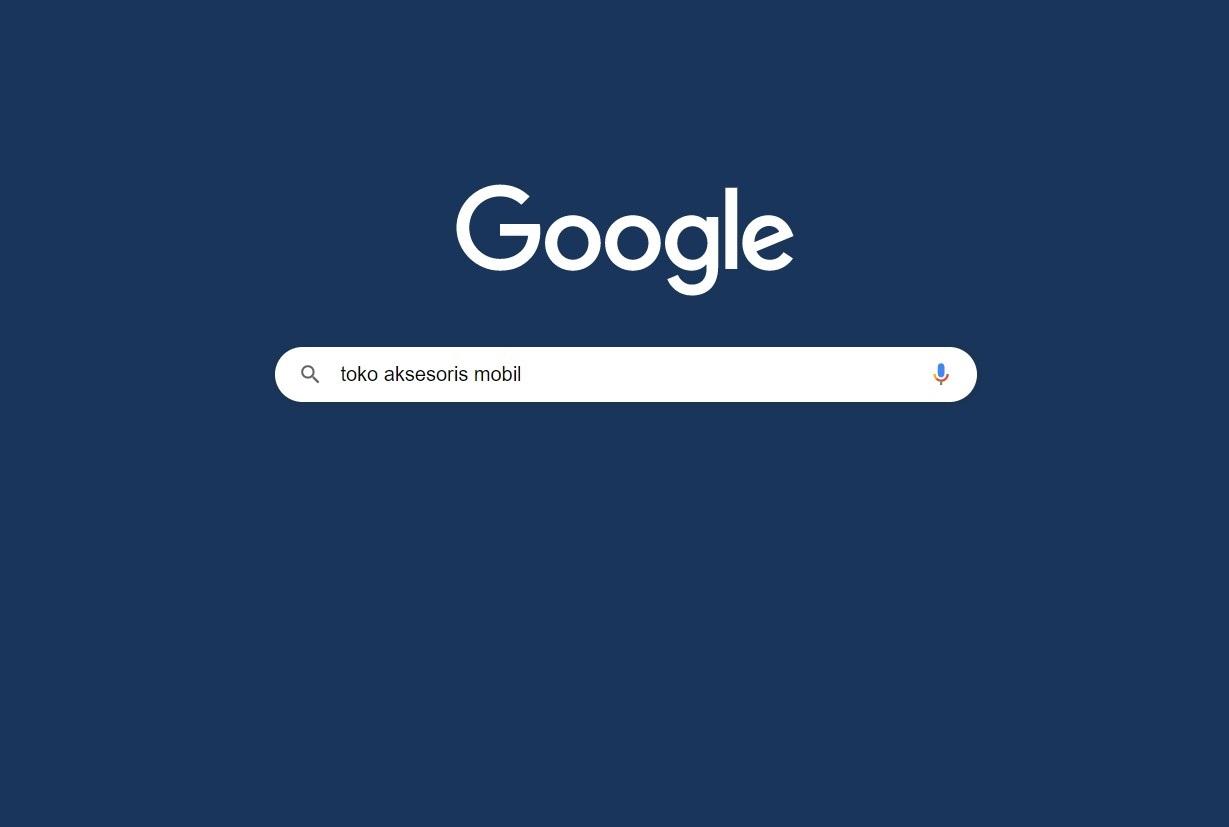 Foto menunjukkan Google Search