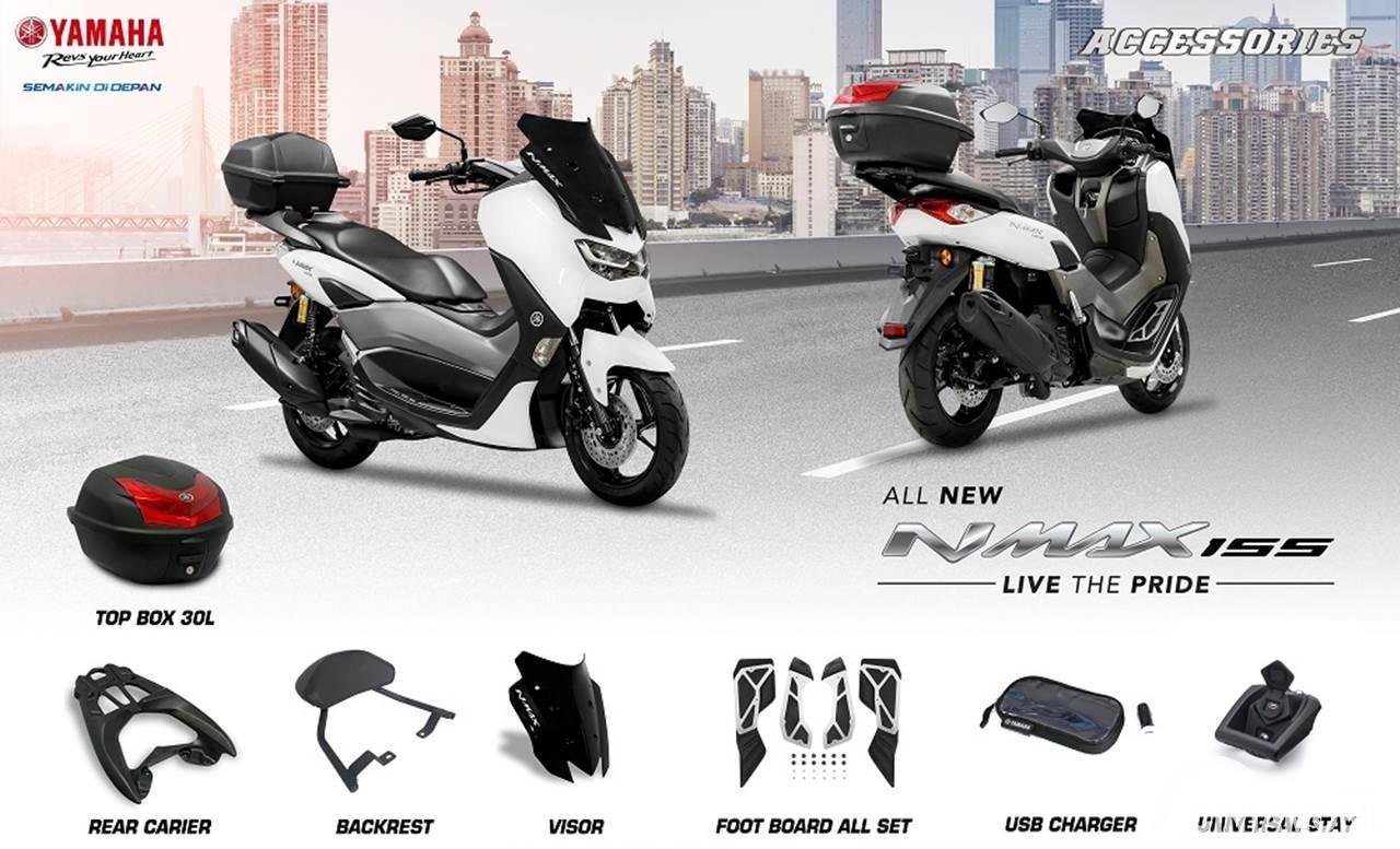8 Aksesoris Yamaha All New NMax 155 Buat yang Suka Touring