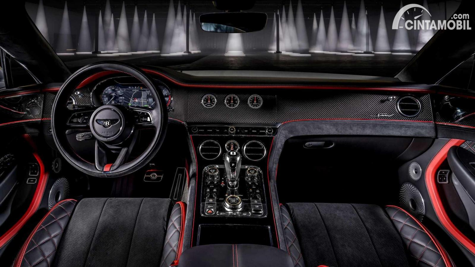 tampilan terbaru dari dashboard Bentley Continental GT Speed