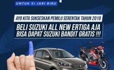 17 April Jangan Lupa Nyoblos! Karena Beli Mobil All New Suzuki Ertiga Bisa Dapat Motor Suzuki Bandit