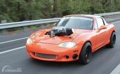 Modifikasi Mazda MX-5 Miata, Hell Kitty Bermesin Dodge Charger Hellcat