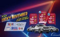 Lucky November Promo, Beli Wuling Almaz Bonus Smartphone OPPO
