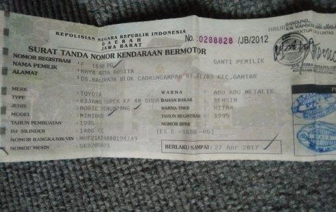 Jual mobil bekas Toyota Kijang SSX 1995 dengan harga murah