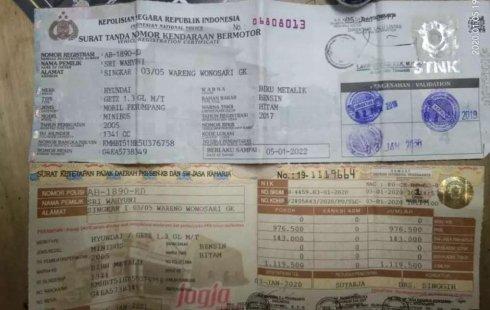 Hyundai Getz 2005 DIY Yogyakarta dijual dengan harga termurah