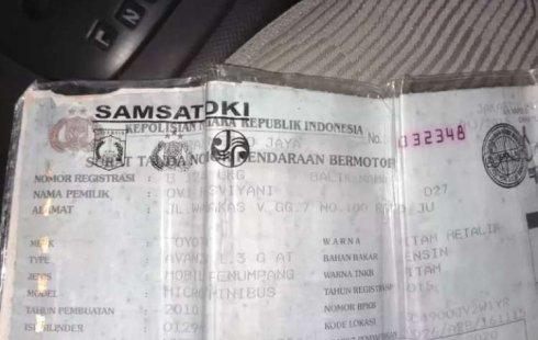 Jual mobil Toyota Avanza G 2010 bekas, DKI Jakarta