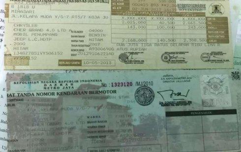 Jeep Grand Cherokee 2000 Riau dijual dengan harga termurah