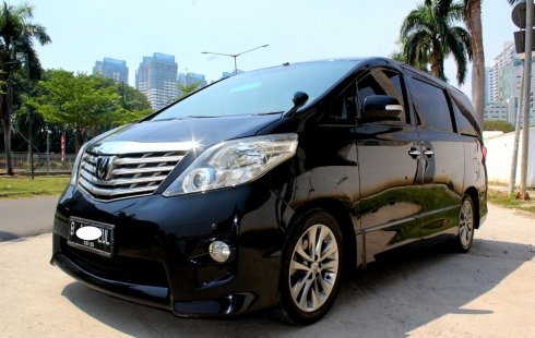Jual Mobil Bekas Toyota Alphard S Audioless 2010 Hitam, DKI Jakarta