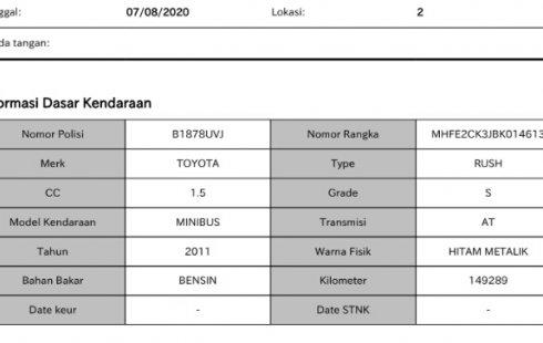 Mobil bekas Toyota Rush S Matic 2011 dijual, DKI Jakarta