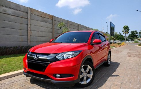 Honda HR-V E CVT 1.5 matic 2017 Merah KM low 39rb