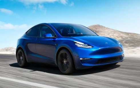 Brand New 2022 Tesla Model Y Blue on Black