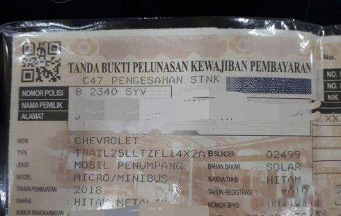 Jual cepat Chevrolet Trailblazer LTZ 2018 di DKI Jakarta