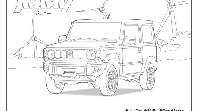 Usir Bosan Anak Saat Di Rumah Saja Mari Mewarnai Mobil Suzuki