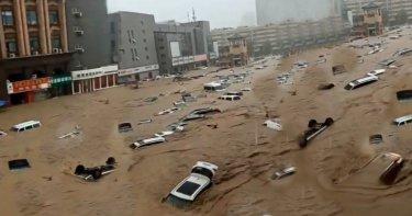 Foto menunjukkan Banjir di Kota ZhengZou akhir Juli 2021
