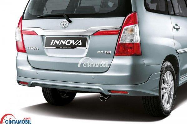 gambar bagian belakang Toyota Innova 2015