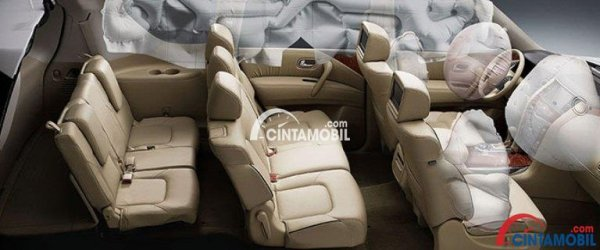 Fitur airbags di mobil Nissan Patrol 2017