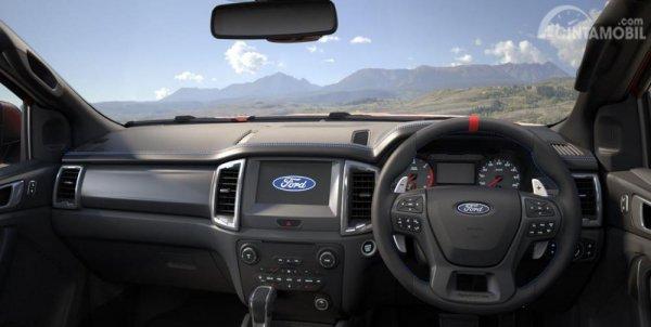 Gambar menunjukkan Layout Dasbor Ford Raptor 2020