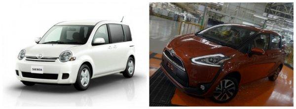 Toyota Sienta Generasi 1 & Generasi 2