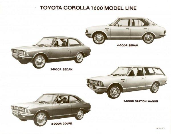 foto model-model Toyota Corolla generasi kedua