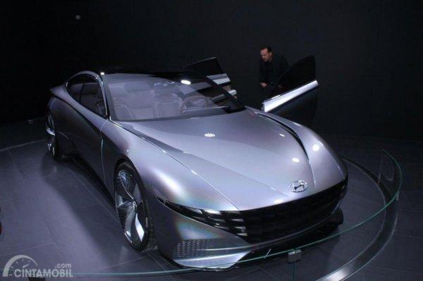 Gambar yang menunjukan mobil konsep Hyundai Le Fil Rogue