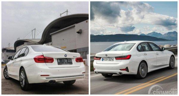 Perbedaan eksterior belakang BMW 3 Series F30 dan G20