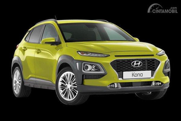Tampak sebuah Hyundai Kona varian Elite 2019