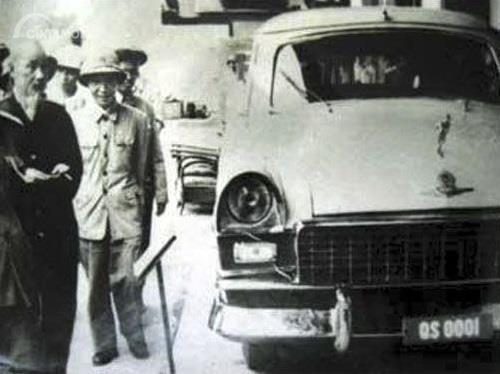Gambar yang menunjukan salah satu mobil pertama Vietnam, Chien Thang