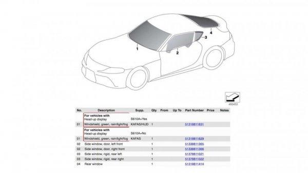 Gambar yang menunjukan desian Toyota Supra