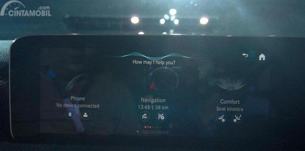 Tampilan MBUX di Mercedes-Benz A 200 Progressive Line 2018
