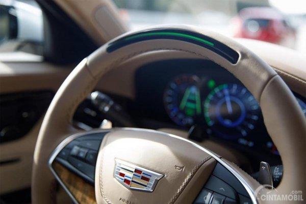 Gambar yang menunjukan sistem kemudi Cadillac Super Cruise