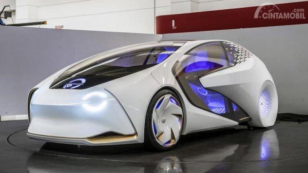 Foto Toyota Concept-i tampak dari samping