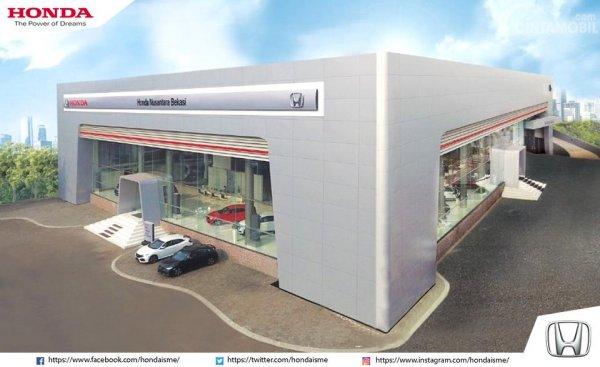 Foto dealer Honda Nusantara Bekasi tampak dari depan