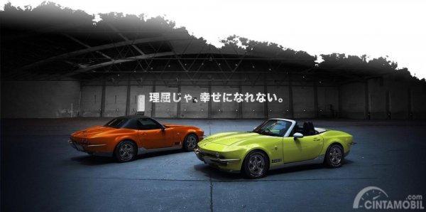 Mitsuoka Rock Star tampak depan dan belakang