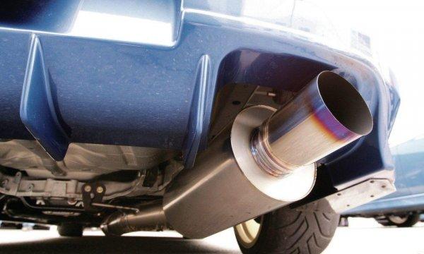 Gambar yang menunjukan bagian knalpot pada sebuah mobil