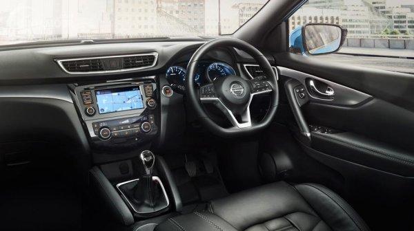 desain layout interior sebuah Nissan Qashqai 2019