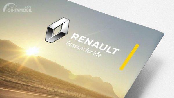 Gambar yang menunjukan logo perusahaan Renault