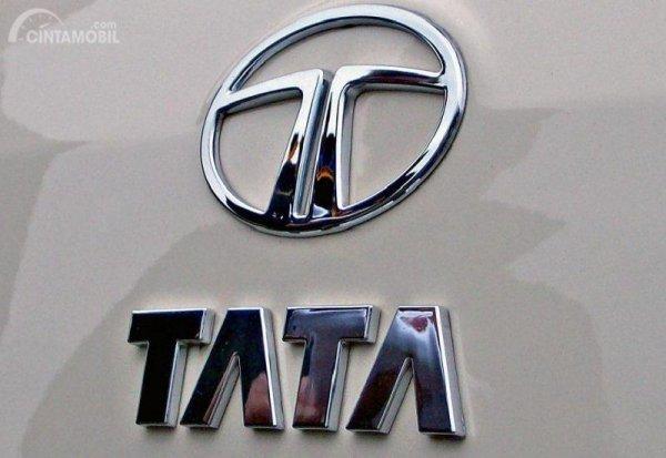 Gambar yang menunjukan logo perusahaan Tata
