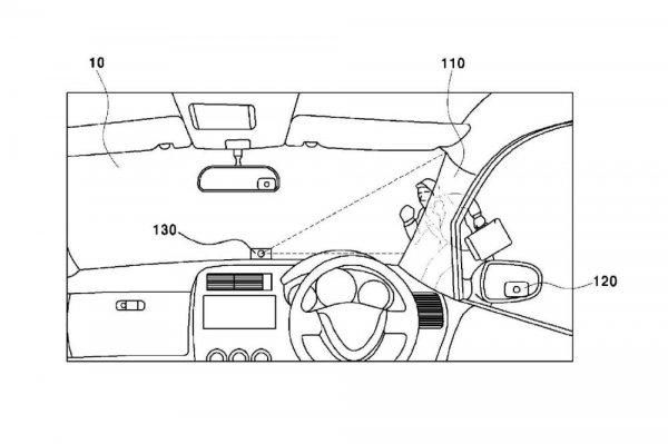 Gambar yang menunjukan paten pilar A Hyundai dan Kia