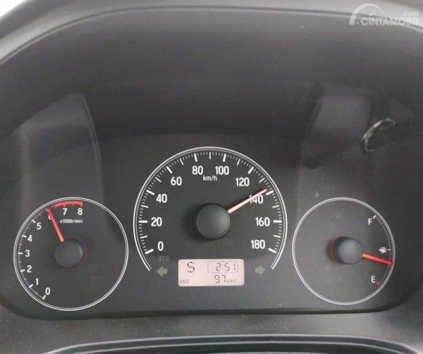 Tampak layout spidometer All New Honda Brio Satya